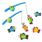 Bath Toys Fishing Game with 6 Floating Fish and 2 FIshing Rods Poles,2 sets,Great Gift for Kids Boys Girls 2 3 4 Years Old,Random Delivery