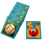 Sports Theme Slide Puzzles Party Favors 8 Pack - Kids Handheld Sports Ball Jigsaw Puzzle Games - Includes 4 Board Styles | Baseball | Basketball | Soccer | Football Genre Puzzle