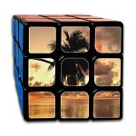 Magic Speed Cube: The Best Brain Training Game - Beach Sunset Coconut Trees 3X3 Speed Cube Puzzle Smart Cube, Anti Stress For Anti-anxiety Adults Kids, Best Rubix Puzzle Toy
