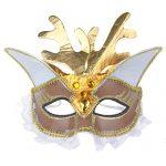 IETANG Women's Halloween Masquerade Venetian Mask Mardi Gras Costume ACC (B)