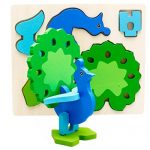 OVERMAL Montessori Mini 3D Puzzle Kids Educational Funny Toy Wooden Colorful Jigsaw Gift
