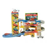COLORTREE Parking Lot Garage Toy PlaysetWith Car Model Helicopter Toys for Children