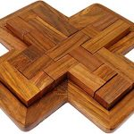 9-Pieces Wooden Plus Board Jigsaw Puzzle Game - Wooden Toy Game - Brain Treasure - Gifts for Kids
