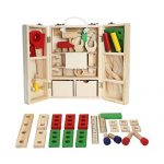 Simulation Wooden Toolbox Set Toys Pretend Play Repair Tools Kit Children's Puzzle Toys for Kids Boys