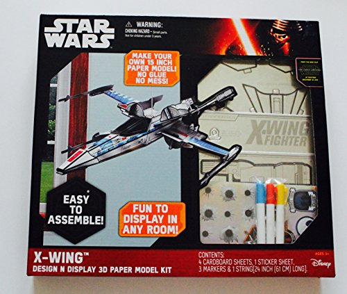 STAR WARS X-Wing DESIGN N DISPLAY 3D PAPER MODEL KIT