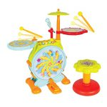 DanPanda Big Toy Drum Set For Kids With Microphone – Educational Musical Instrument Playset For Toddlers, Includes Drumsticks, Bass Drum & Pedal, Colorful, Fun & Stimulating Music Kit For Toddlers