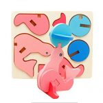 1 Set Wooden Nut Cartoon Animals Building Pairing Blocks Handmade Jigsaw Early Childhood Educational Baby Toys Gifts Dolphin