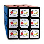 Cartton Apple And Bananas Fruit 3-D Puzzle Cube Easy Turning 3x3 Rubik's Cube Unisex 3by3 Magic Square Toys For Anti Stress Intellectual Training