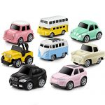 Pull Back Cars Alloy Vehicles Set Mini Car Model Construction and Raced Trucks for Toddlers Gift 8 PCS