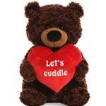 "Aurora World Large Let's Cuddle Bear Plush Animal, Multicolor, 17"""