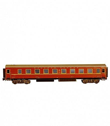 Chemin De Fer Modele 3d Puzzle Vert Wagon Avec Des Lits Superposes