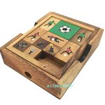 Handmade Soccer Game: Wooden Klotski Sliding Block Puzzle, Wooden Puzzles for Adults & Children, By RATREE SHOP