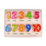 Rolimate 10 Numbers Preschool Early Educational Development Wooden Puzzles, Best Birthday Gift Toy for Age 1 2 3 Child Kids Toddlers Baby Boys Girls