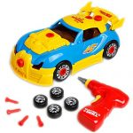 Take Apart Toy Racing Car Kit For Kids(2 Versions) - Build Your Own Car Kit Toy For Boys & Girls Aged 3+ Build Your Own Car with 30 Take Apart Pieces, Tool Drill, Lights and Sounds