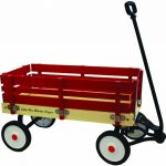 "Grand Forward Little Box 34"" Wooden Wagon, Red"