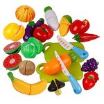 Catnew Children Kids Play Toys Kitchen Plastic Fruit Vegetable Pretend Reusable Role Play Cutting Set