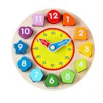 Woodtime woodclock1 Wooden Shape Sorting Clock Educational Toy for Kids