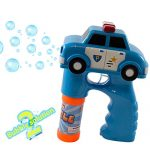 Kidsthrill Police Car Bubble Shooter Gun With Sirens And Music – 2 Bubble Solution Included