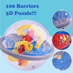Yeefant 100 Barriers 3D Labyrinth Magic Intellect Ball Balance Maze Perplexus Puzzle Toy DIY Construction Educational Puzzle Learning for Girl Boy Playing Home Game