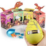 Xosoy 4.72''3.15'' Super Huge Lifelike Dinosaur Egg Novelty Magic Hatching Growing Dinosaur Toys | Dinosaur Eggs With Big Dinosaur Toy Figures Inside Hatching Toy For Kid | Funny Kids Toys