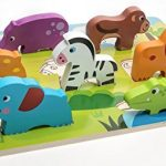 Wooden Puzzle for Toddlers 1 Year Old & 2 Year Old – Ideal Shapes Animal Chunky Puzzle For Kids Up To 3 Years Old and Preschool