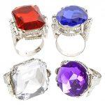 Rhode Island Novelty Jumbo Jeweled Rings Assortment (1 dz)