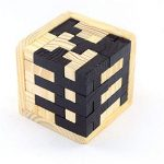 Mbaoluo 3D Wooden Puzzle Brain Teaser Puzzle Russia Educational Tetris Shape Cube Genius Skill Builder Puzzle Toy with Tetris Fit Learning Jigsaw for Kids, Adults and Puzzle Enthusiasts
