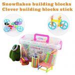 NanHong roll outThe New With shaft Snowflake Plastic Building Blocks Toy, Two kinds different Educational Construction Engineering Building Blocks Set | Interlocking Building Connecting box Kit