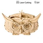 ROBOTIME Wood Craft Kits Owl Box 3D Brain Teaser Puzzle for Kids Great Pen container for Adults