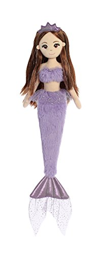Aurora World Sea Sparkles Mermaid Plush Toy, Purple