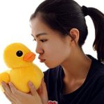 "20cm(8"") Giant Yellow Duck Stuffed Animal Plush Soft Toys Cute Doll One Piece by T"
