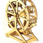 Chusea Interesting Wooden Jigsaw Creative Wooden 3D Puzzle Education Toy Fantastic Gifts For Kids(Bamboo Color Ferris Wheel)