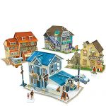CubicFun-World Architectural House Building Model Kits 3D Puzzle,France,W3187h 161 Pieces