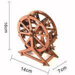 Chusea Interesting Wooden Jigsaw Creative Wooden 3D Puzzle Education Toy Fantastic Gifts For Kids(Red Ferris Wheel)