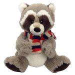 "Snuggle Stuffs Kids Plush Taupe Rascal Raccoon Sitting Stuffed Animal, 9"""
