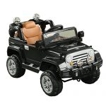 Aosom 12V Kids Battery Powered Off Road Truck Remote Control - Black