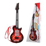 TWFRIC Kids Guitar Electric Battery Operated Toy Guitar Musical Instruments Educational Toy for Beginner Boys Girls Toddlers (21 Inch / Red)