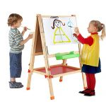 BATTOP Double Sided Adjustable Kids Easel Drawing Board with Magnetic Alphabet Numbers - Extra Accessory Set Included (2 in 1)