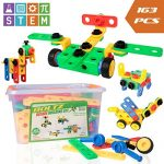 """USA Toyz STEM Toys Building Blocks - """"BOLTZ"""" 163 Piece Construction Set Educational Toys for Toddlers with Toy Bolts + 3 Toy Ratchets for Kids Building Toys"""