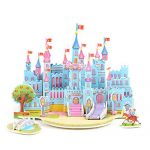 Loveje 3D Paper Board Puzzle Kid Early Learning Construction Assemble Castle Toy Toddlor Gift