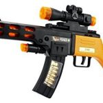 Super Style Blaster Children Kid's Pretend Play Battery Operated Toy Gun Rifle w/ Lights, Sounds, Shoulder Strap (Colors May Vary)