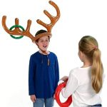 HANTAJANSS Ring Toss Game Reindeer Antler Inflatable Christmas Toys Summer Party Beach Pool Kids Water Game 2 Sets