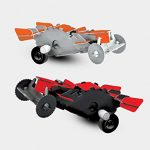 Protocol Desk Racers (Set of 2 3D Wind-Up Racing Car Puzzles)