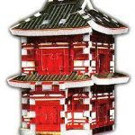 Japanese Pagoda, 78 Piece Mini 3D Jigsaw Puzzle Made by Wrebbit Puzz-3D
