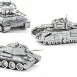 3D Metal Puzzle Models Of Tank Collection - DIY Toy Metal Sheets Assembling Puzzle, Realistic Display Of Tanks 3D puzzle – 3 Pack