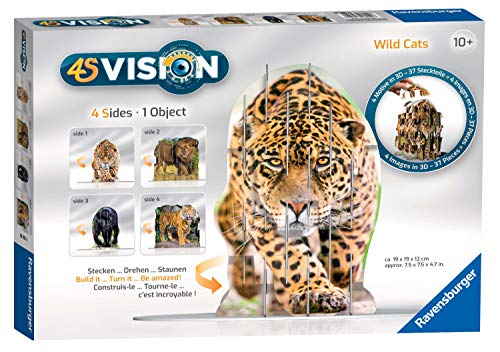 Ravensburger 4S Vision Wild Cats Slot Fit 3D Puzzle