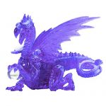 Bepuzzled Original 3D Crystal Puzzle-Deluxe Dragon (56 Pcs), Purple