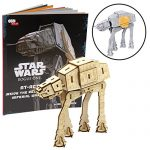 """Star Wars: Rogue One at-ACT Book and 3D Wood Model Kit - Build, Paint and Collect Your Own Wooden Model - Great for Kids and Adults, 12+ - 4.75"""""""