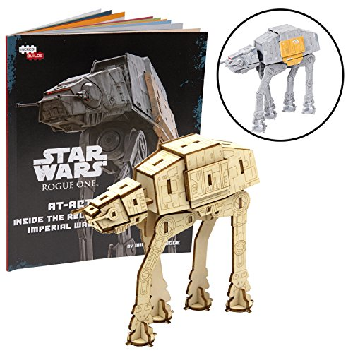 Star Wars: Rogue One at-ACT Book and 3D Wood Model Kit - Build, Paint and Collect Your Own Wooden Model - Great for Kids and Adults, 12+ - 4.75