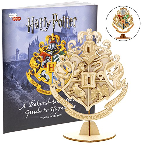 Harry Potter Hogwarts Crest Book 3D Wood Model Kit - Build, Paint Collect Your Own Wooden Model - Great Kids Adults, 8+ - 4